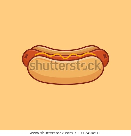 Vector hot dog illustratie label menu hotdog Stockfoto © tele52