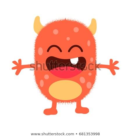 Gelukkig cartoon pluizig monster illustratie naar Stockfoto © cthoman