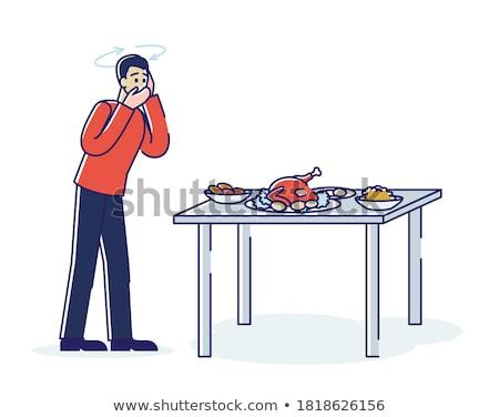 Beteg férfi szenvedés otthon fertőzés rossz Stock fotó © Elnur