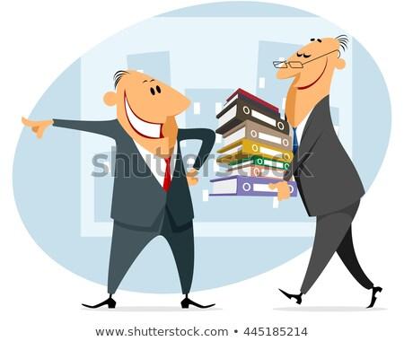 Işadamı kitaplar patron kitap Stok fotoğraf © MaryValery