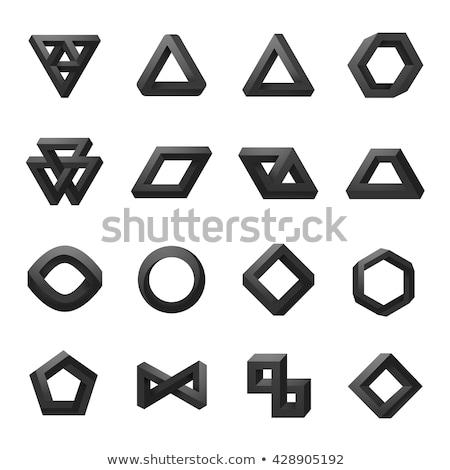 невозможное черный круга вектора набор икона Сток-фото © blaskorizov