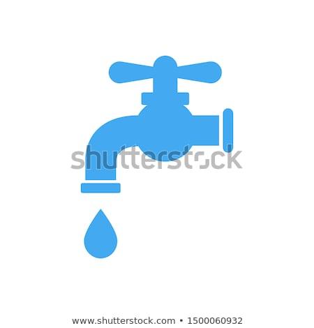 Gota de água torneira logotipo ícone símbolo projeto Foto stock © blaskorizov