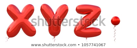Red glossy font Letter Z 3D Stock photo © djmilic