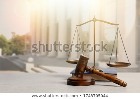martillo · ley · libros · tribunal · aislado - foto stock © andreus