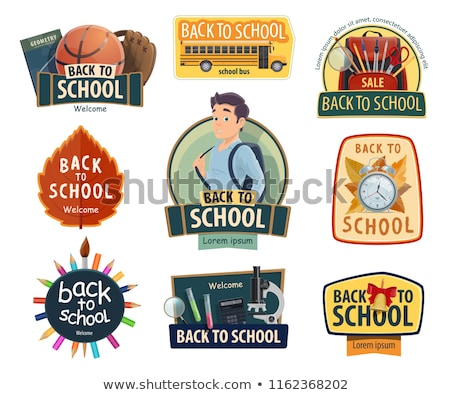 Back to School Bag for Schoolchildren Promo Poster Stock photo © robuart