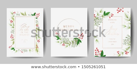 merry christmas invitation party flyer template stock photo © sarts