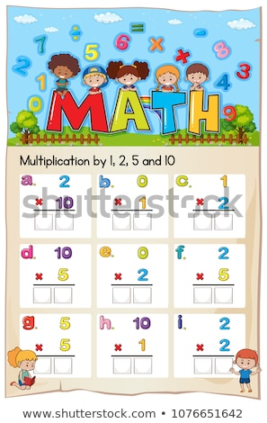 Mathematics Worksheet  Multiplication Number Chapter Stock photo © colematt