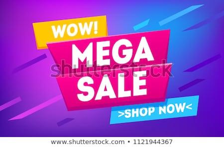 Mega Sale Offers on Geometric Shape Shopping Label Stock photo © robuart
