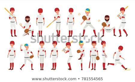 Cartoon Baseball Player Running Stock photo © cthoman