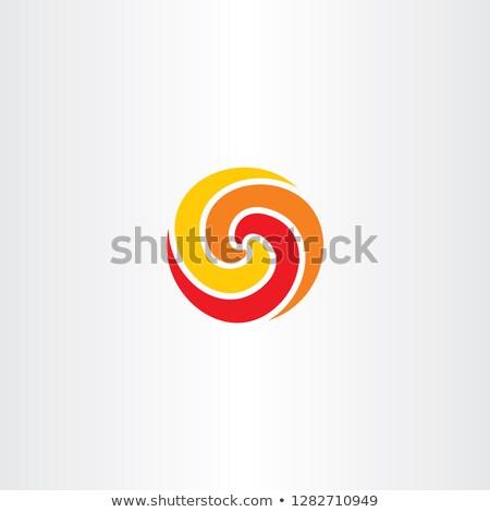 Stok fotoğraf: Ateş · topu · daire · logo · simge · spiral · vektör