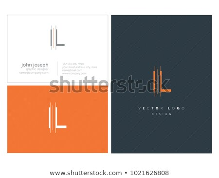 letter l colorful triangles logo icon Stock photo © blaskorizov
