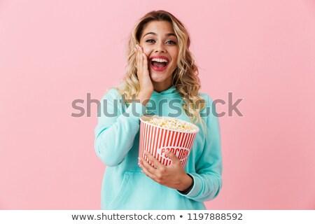Afbeelding amusant europese vrouw 20s Stockfoto © deandrobot