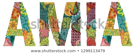 female name amia vector decorative zentangle object stock photo © natalia_1947
