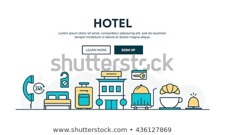 Online food ordering - flat design style colorful illustration Stock photo © Decorwithme