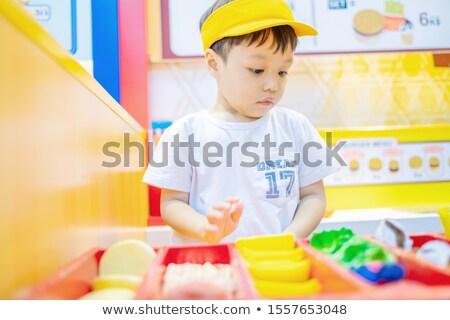 少年 販売者 幸せ 目 子 背景 ストックフォト © galitskaya