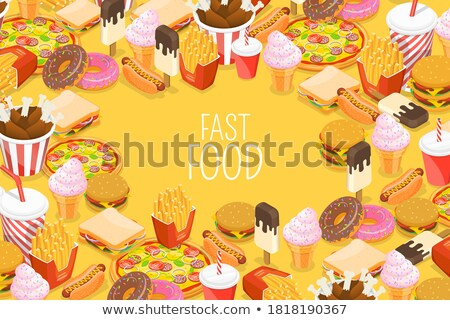 vector · isometrische · fastfood · restaurant · icon · business · auto - stockfoto © netkov1