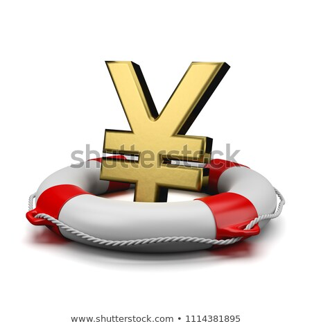 Yen or Yuan Sign on a Lifebuoy Stock photo © make