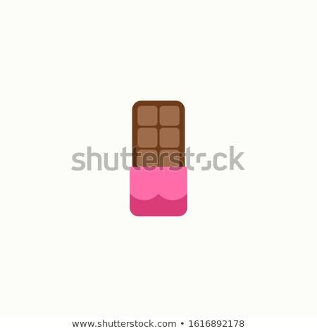 Chocolate flat concept icons Stock photo © netkov1