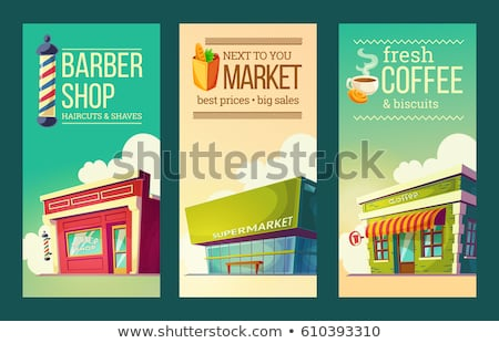 Vintage supermarkt verkoop eps 10 stad Stockfoto © netkov1