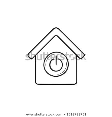 Smart home automation hand drawn outline doodle icon. Stock photo © RAStudio