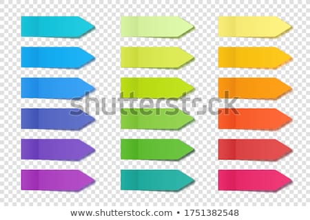 Office Paper Page and Arrows Isolated Set Vector Stock photo © robuart