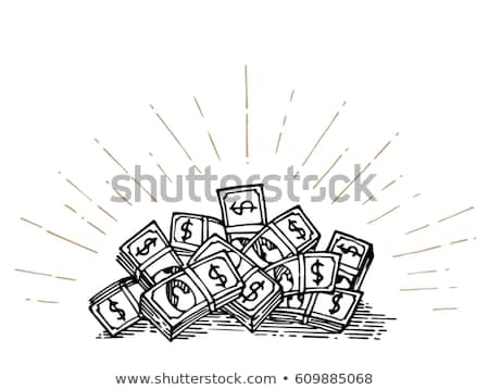 Hand bursting out from a money heap  Stock photo © ra2studio