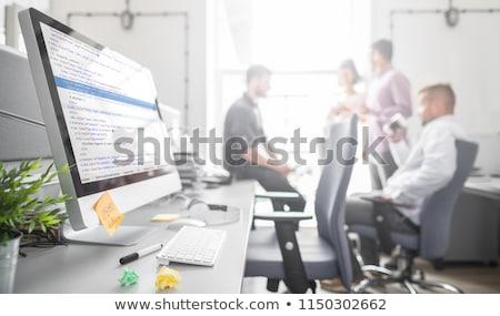 Programmer Outsource Developer Team coding technologies Website  Stock photo © snowing