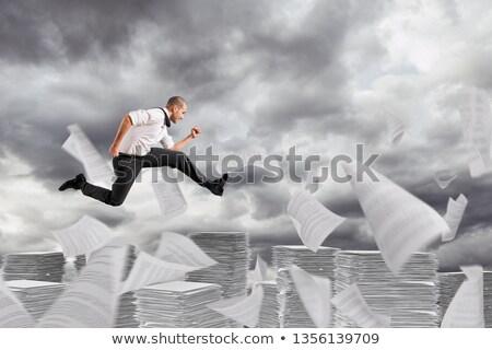 Affaires loin bureaucratie colonnes papier Aller Photo stock © alphaspirit