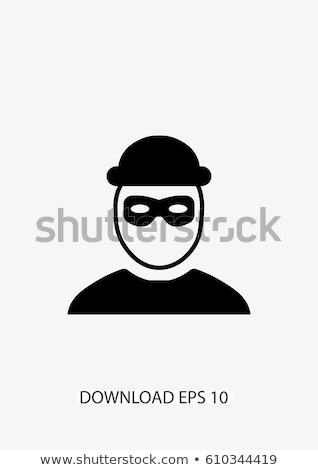 犯罪者 · 男 · アイコン · 黒白 · 手 · セキュリティ - ストックフォト © angelp