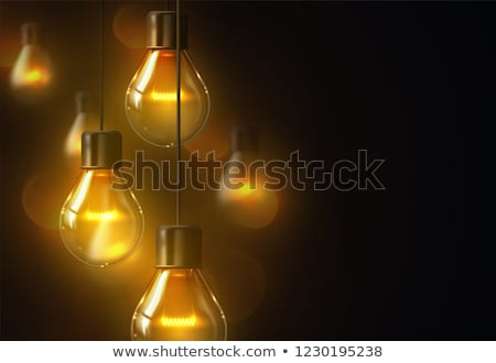 light bulb vector retro loft light bulb symbol graphic decor 3d realistic transparent illustratio stock photo © pikepicture