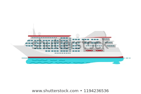 Spacious Luxury Cruise Liner Big Red Steamer Stock photo © robuart