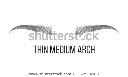 Foto d'archivio: Thin Medium Arch Brows Shape Vector Business Card Template