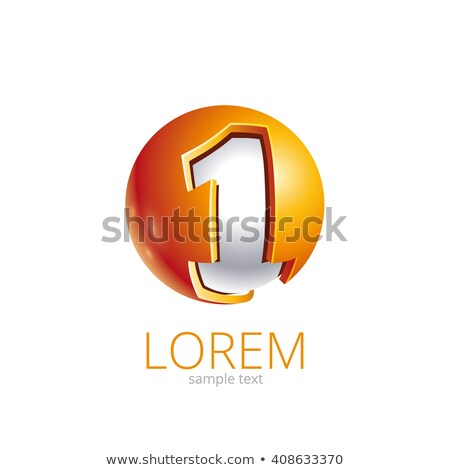 First place in circle. Business abstract circle logo. Vector illustration isolated on white backgrou stock photo © kyryloff