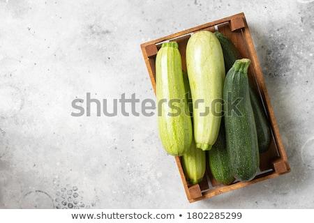 Frischen grünen Zucchini Holz rustikal Tabelle Stock foto © marylooo