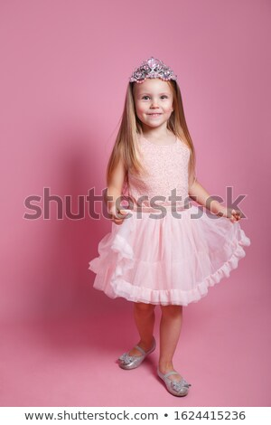 счастливым мало Принцесса иллюстрация белый улыбка Сток-фото © colematt