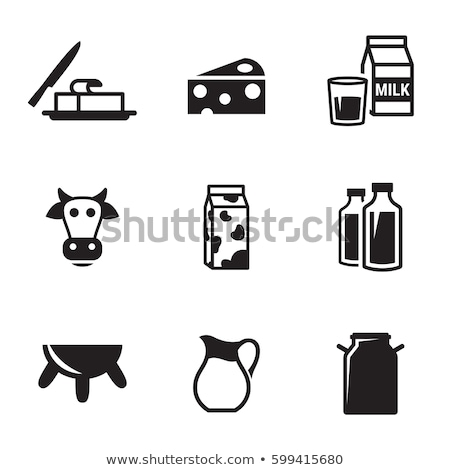 Milk icons set Stock photo © netkov1