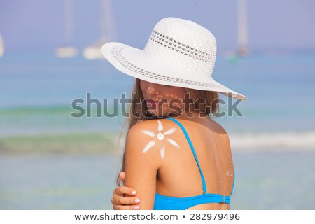 Healthy safe tanning concept Stock photo © Anna_Om