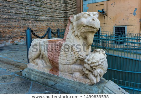 Griffin at entrance to St. Justina Basilica, Padua, Italy Stock photo © boggy