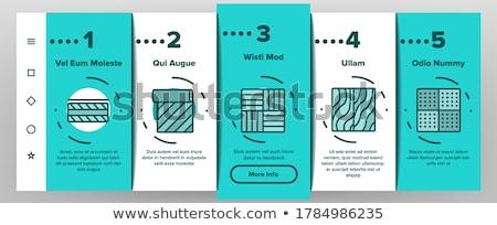 à prova d'água materiais vetor móvel aplicativo página Foto stock © pikepicture