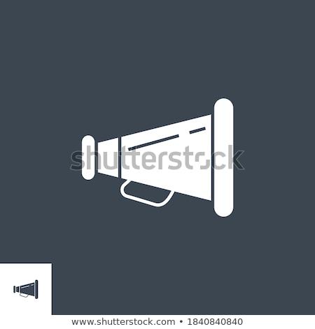 loud speaker related vector glyph icon stock photo © smoki