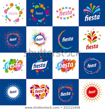 Abstract logo for the Fiesta. Vector illustration Stock photo © butenkow
