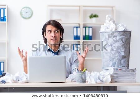 üzletember új ötletek papírok férfi stressz Stock fotó © Elnur