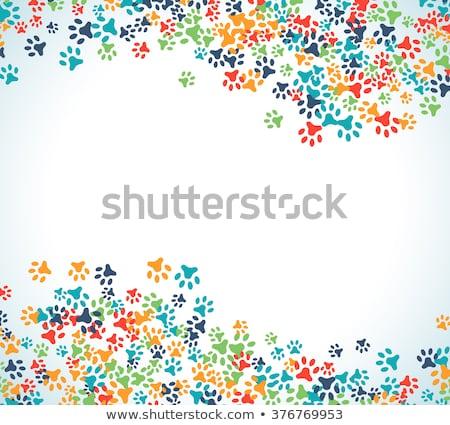 Stock fotó: Sok · gyerekek · díszállatok · fehér · illusztráció · lány