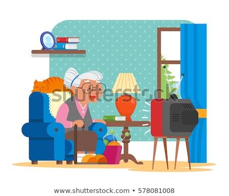 Stok fotoğraf: Kadın · oturma · sandalye · kadın · kişi