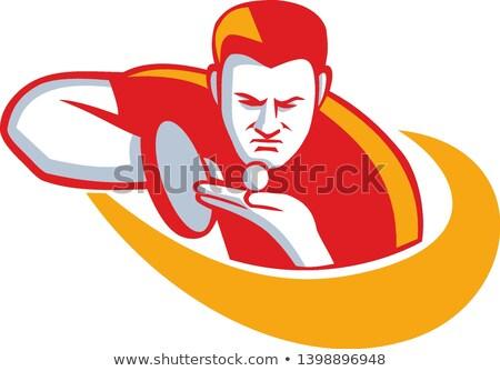 Asztalitenisz játékos adag kabala ikon illusztráció Stock fotó © patrimonio