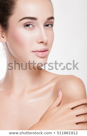 Majestic woman's beauty . Portrait of girl over white background . Beauty treatment, cosmetology , s Stock photo © serdechny