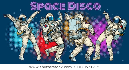 dancing man and woman disco party dancer vector stock photo © robuart