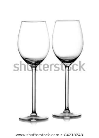Two empty wine glass isolated on a white  Stock photo © bborriss