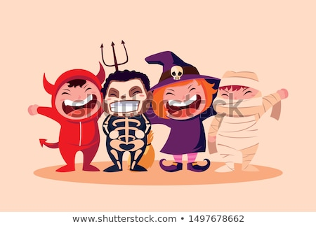Spooky Halloween fancy Dress Characters Stock photo © solarseven