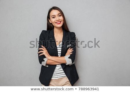 Portret przyjazny uśmiechnięty biznesmen patrząc Zdjęcia stock © lichtmeister